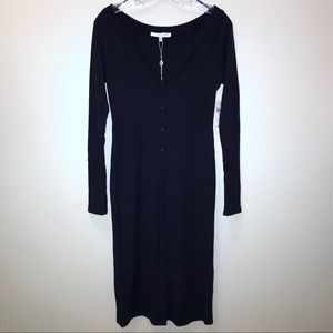 Form fitting button down dress